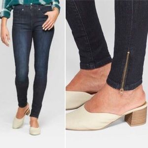 Universal Thread high rise ankle zip jeans